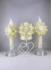 свечи очаг айвори фото