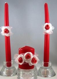 свечи красно-белые очаг купить