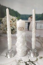 Свечи свадебные для обряда домашнего очага комплект 001001