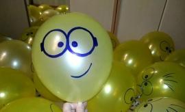 Светящиеся воздушные шары 5 шт. смайлик 02765