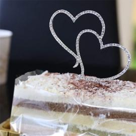 топпер на торт сердечки