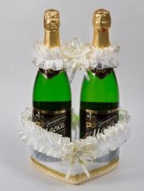 Украшение для шампанского сердце 000535