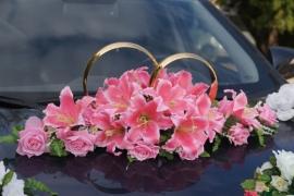 украшение на крышу машины розовое купить