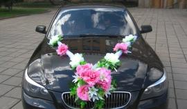 свадебные пионы на машину