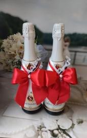Украшение на шампанское РЕТРО на 2 бут. 002357