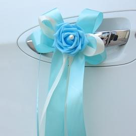 украшния на ручки машины голубые фото