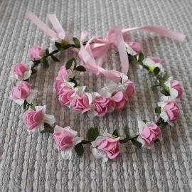 венок из фоамирана бело-розовый фото
