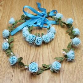 ободок с синими цветами фото