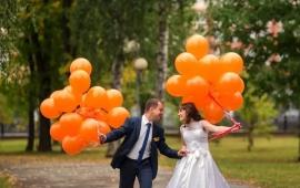 Воздушные шары оранжевые 10 шт. 000509