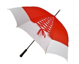 зонт трость красный с белым купить