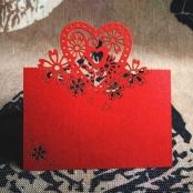 банкетная карточка красная лазерная резка фото