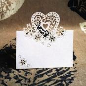 рассадочная карточка белая лазерная резка фото