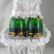 белые украшения на шампанское купить