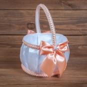 свадебная корзинка персиковая фото