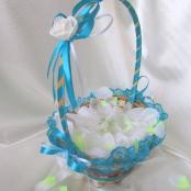 бирюзовые свадебные корзинки фото