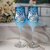 синие свадебные окалы фото