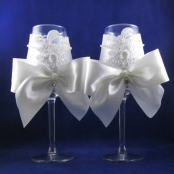 бокалы свадебные белые купить