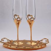 свадебные фужеры, свадебные бокалы, бокалы на свадьбу