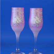 бокалы розовые фото