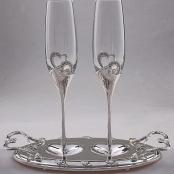 свадебные бокалы, свадебные фужеры, бокалы на свадьбу