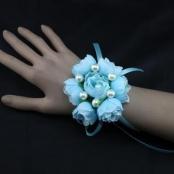 браслет подружкам голубой цветы фото