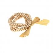 браслет жемчужный золотистый