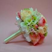букет дублер мятно-розовый фото