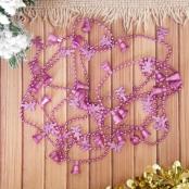 гирлянда на елку ярко-розовая фото