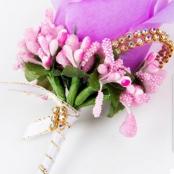 бутоньерка розовая фото