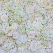 цветочная фотозона белые цветы аренда