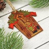деревянные игрушки на елку фото