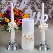 свечи очаг айвори купить