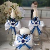 свечи очаг сине-белые фото