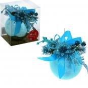 елочные шары ручной работы голубые фото