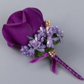бутоньерка фиолетовая купить