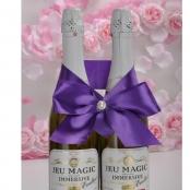 бант на свадебное шампанское фиолетовый купить