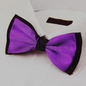 галстук бабочка черно-фиолетовый купить