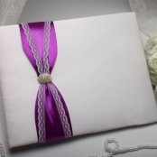 книга пожеланий с фиолетовым декором