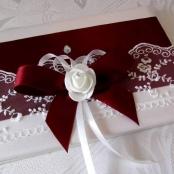 бордовые книги пожеланий на свадьбу фото