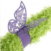 кольца для салфеток сиреневые бабочки фото