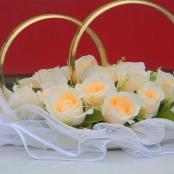 кольца с персиковыми розами купить