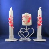 свечи ярко-розовые фото