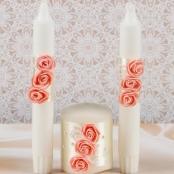 свечи очаг персиковые фото