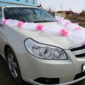 комплект на машину розовый фото