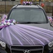 розово-сиреневые украшения на машину купить