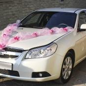 малиновый комплект на свадебную машину фото
