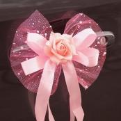 розовые банты на авто на свадьбу фото