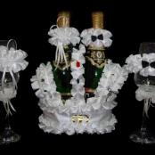 комплект украшения на шампанское и бокалы