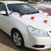 красный комплект на машину свадьба
