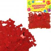 конфетти красные бантики фото